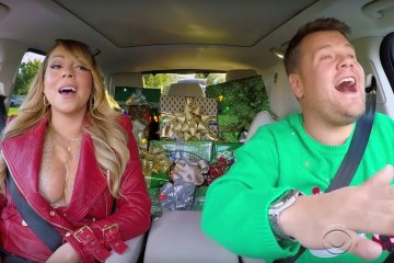 "En el Carpool Karaoke también se celebra la navidad y lo hacen con ""All I Want For Christmas is You"" de Mariah Carey. Cusica Plus"