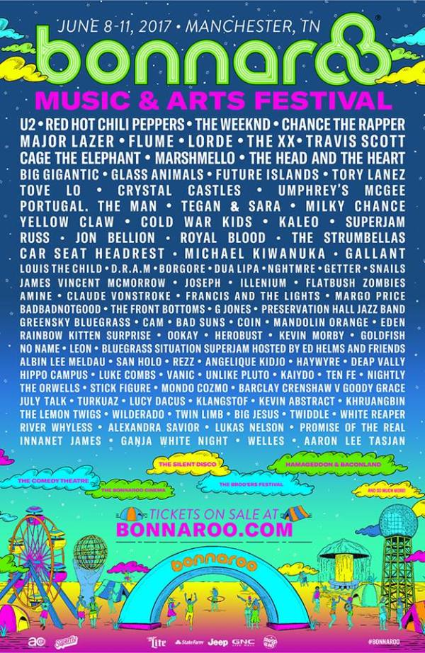 Bonnaroo 2017 Line Up Cusica Plus