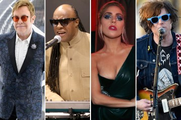 Stevie Wonder y Lady Gaga cantan en cumpleaños de Elton John. Cusica plus