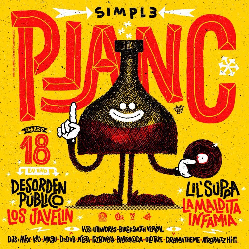 """""""Simpl3""""  presentará su proyecto Plan C en La Quinta Bar. Cusica plus"""
