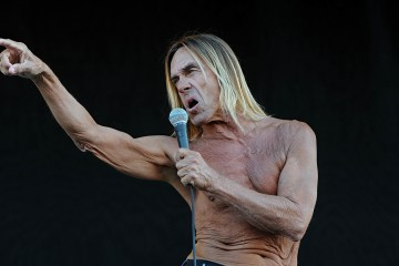 Raw power: Iggy Pop at the Isle of Wight festival in  2011.