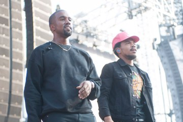Kanye West y Chance The Rapper compartieron fotos desde el estudio de grabación. Cusica Plus.