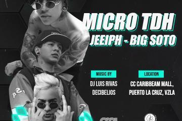 Big Soto, Micro TDH y Jeeiph, llegarán a Lechería de la mano de Caribbean River Productions. Cusica Plus.