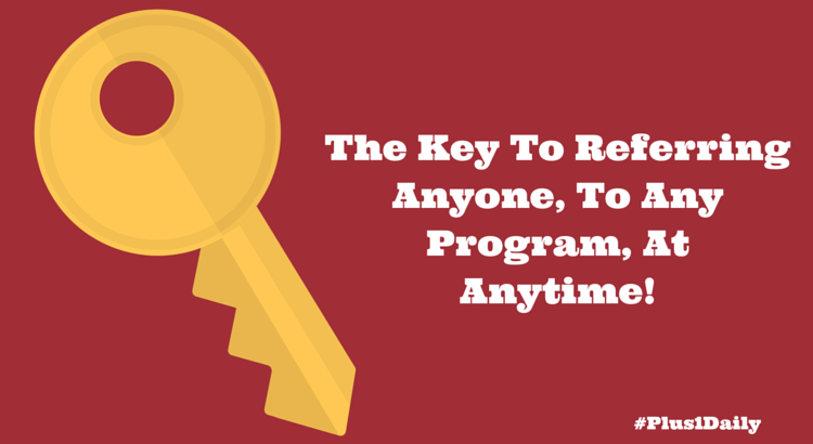 The Key For Referring Anyone, To Anything Thing, At Anytime!