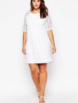 Small Of Plus Size White Dresses
