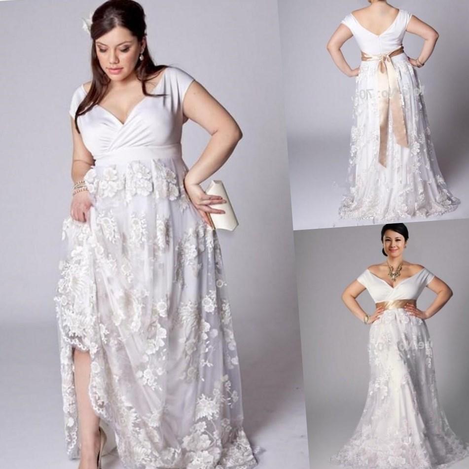 beach wedding wear plus size cheap beach wedding dresses Beach Wedding Wear Plus Size 49