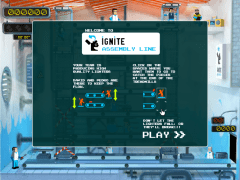 Ignite's Assembly Line Home Screen
