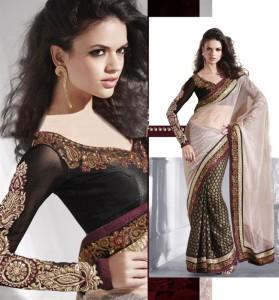 choosing matching blouse for saree 4