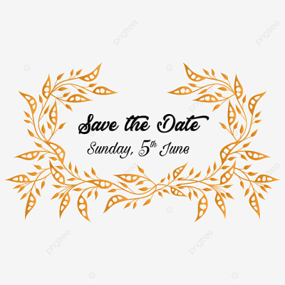 Golden Save The Date For Wedding Invitation, Wedding ...