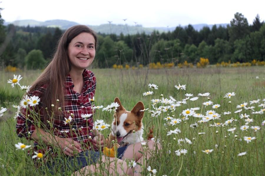 Miranda and Pocket on Birdsong Farm
