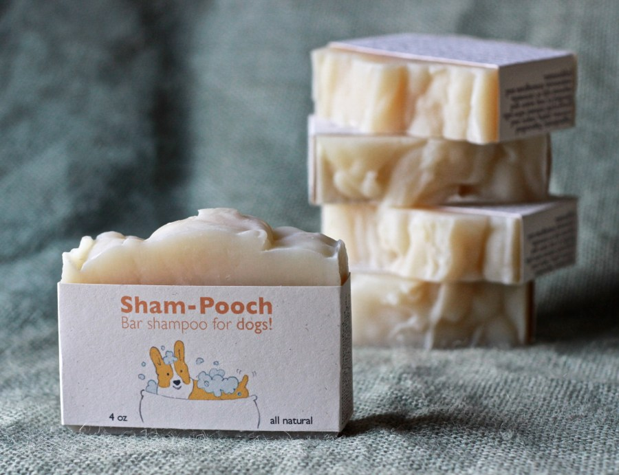 Sham-Pooch, the all natural bar shampoo for POOCHES