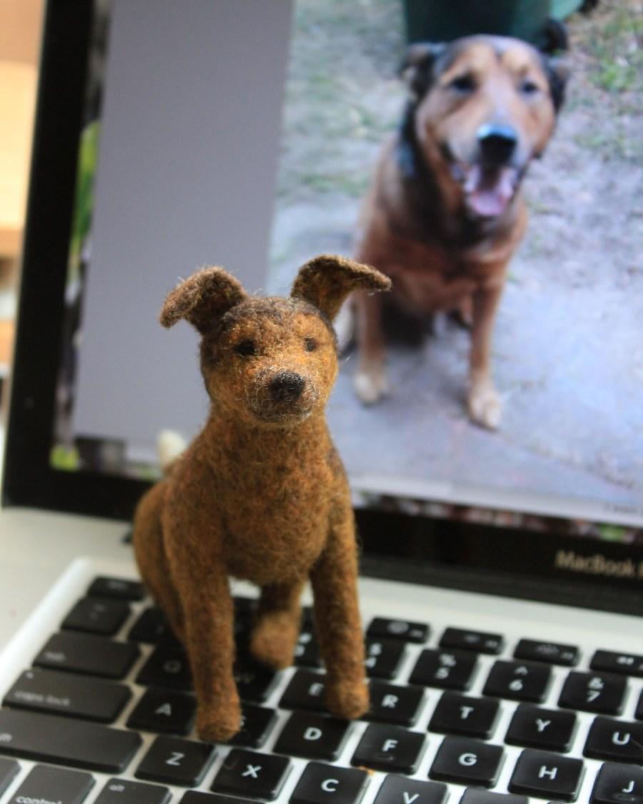 Chewbacca the Kelpie - Custom Pet Portrait by Fiber Friends