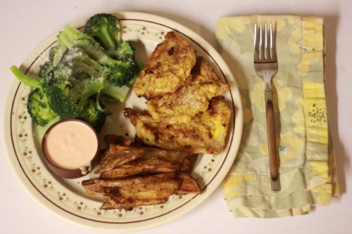 """""""Un-chicken strips"""" with rabbit belly! Real food, fast!"""