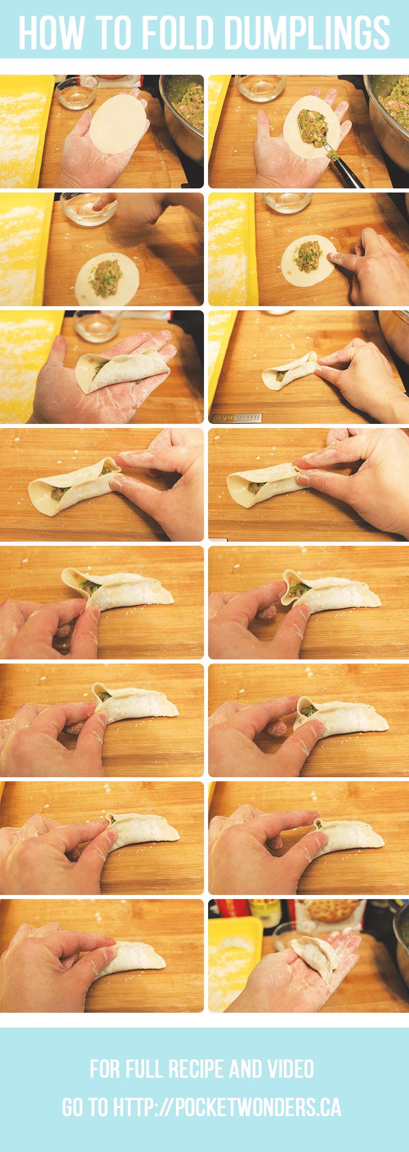 how to make dumplings - how to fold dumplings