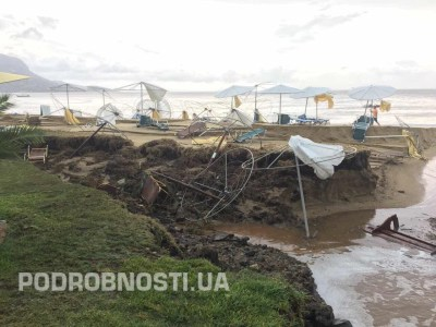 Курорт в Греции накрыла страшная стихия (фото) | podrobnosti.ua