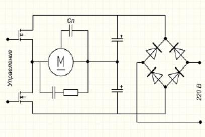 Схема электронного автотрансформатора