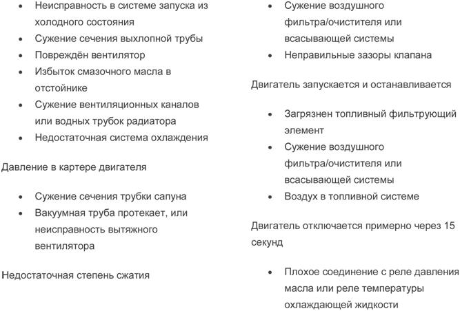 Таблица неисправностей. Шаг 5