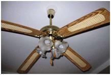 Потолочный вентилятор с люстрой