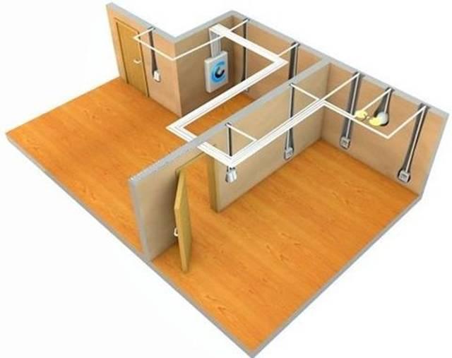 Пространственное расположение электропроводки в квартире