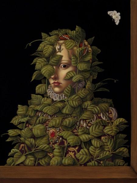 Madeleine Von Foerster, Invasive Species II,  30.5 x 39.5 cm. Huile et tempera d'oeuf sur panneau, 2008