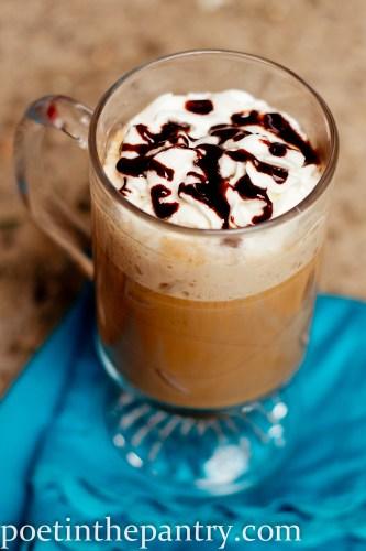 Green Mountain Coffee Fair Trade Island Coconut with hot fudge sauce