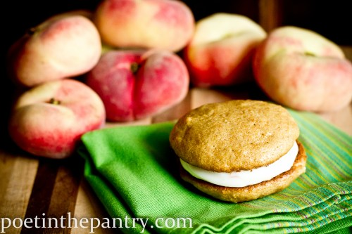 peaches and cream whoopie pies