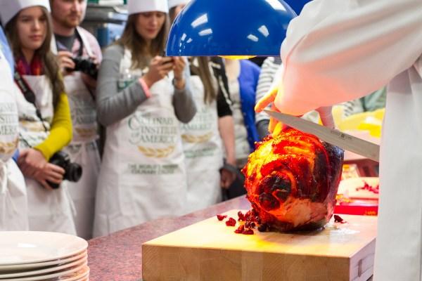 carving ham