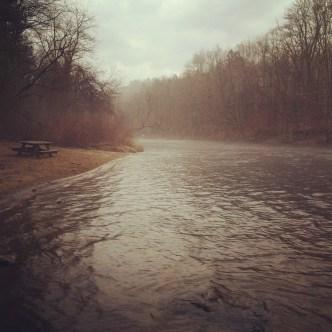 perfect river scene