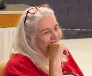 Tricia reads at Benbrook Library