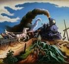 Thomas Hart Benton, The Wreck of the Ole '97 (1943)