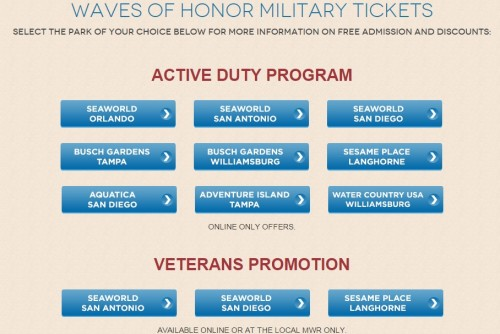 Free Admission To Seaworld Busch Gardens Us Military