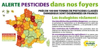 Carte des pesticides