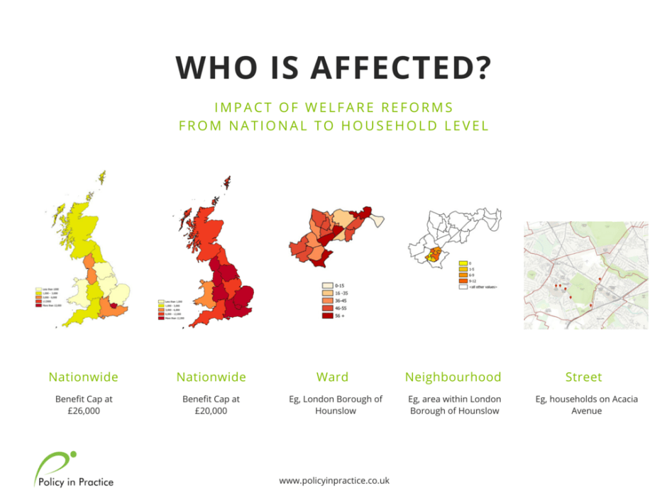 Policy in Practice heatmaps show who is affected by welfare reforms