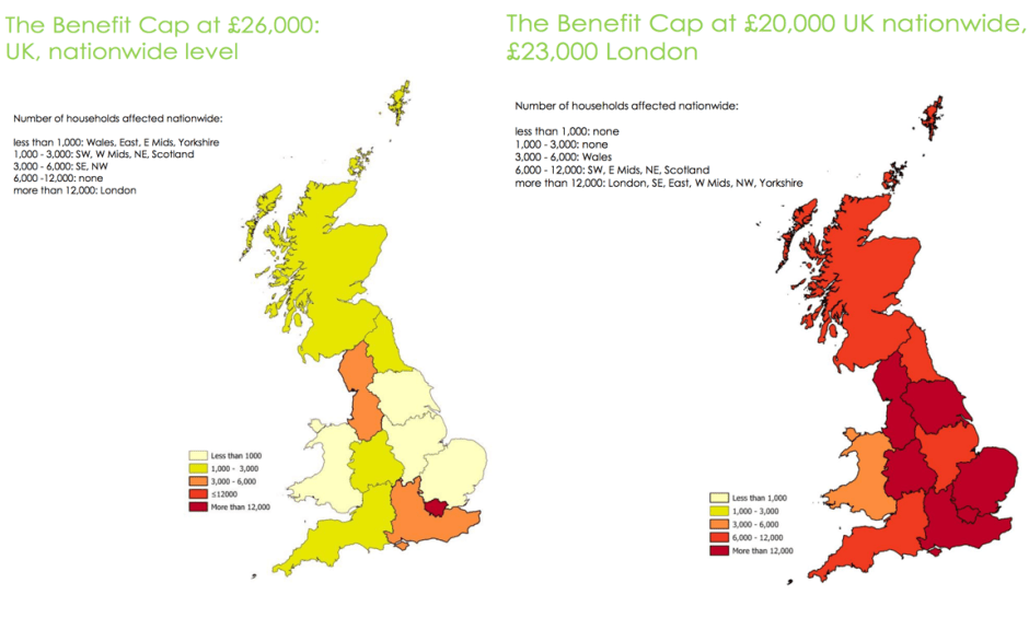 The National Impact of a lower benefit cap