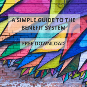 image to illustrate the call to action to download a free simple guide to the benefit system from Policy in Practice