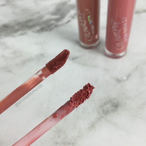 Colourpop Cosmetics Ultra Satin Applicator Comparison - Left: Echo Park, Right: Alyssa