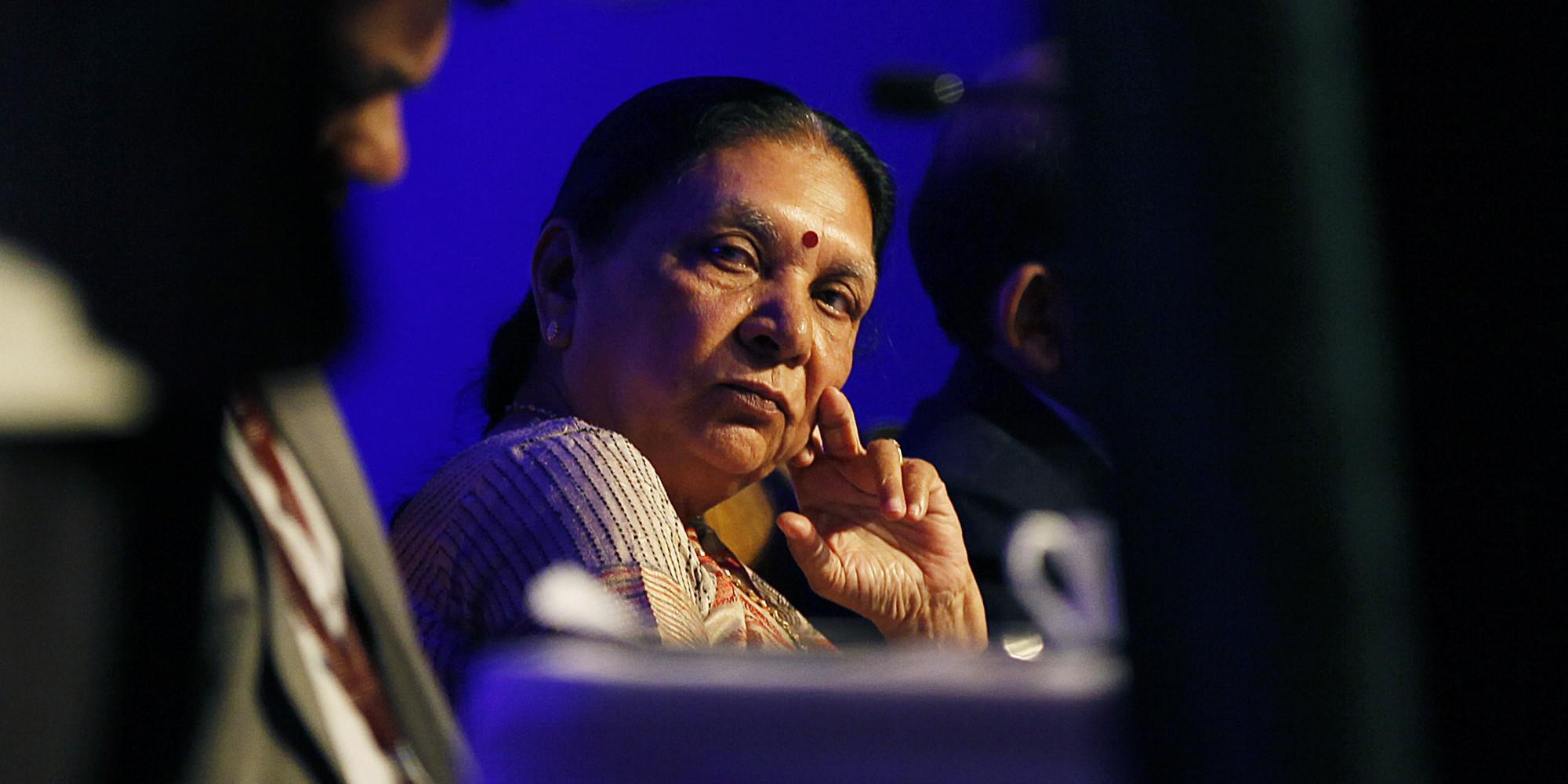 Gujarat Chief Minister Anandiben Patel At Vibrant Gujarat Curtain Raiser
