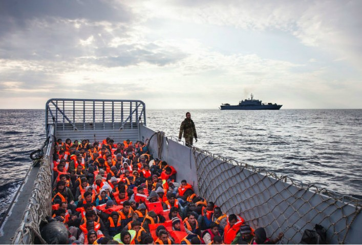 Migrants rescued at the Mediterranean sea. Image: UNHCR / A. D'Amato