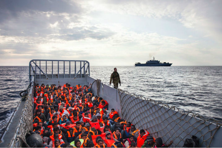 Migrants rescued at the Mediterranean sea. Image: UNHCR / A. D'Amato