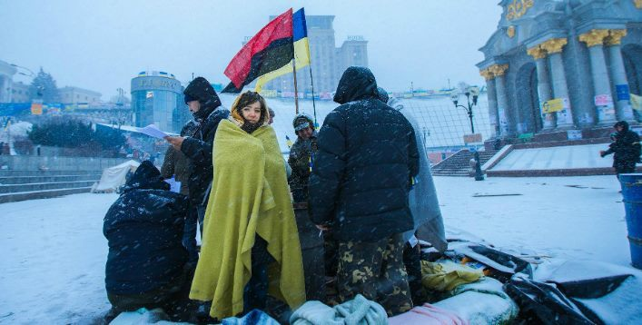 Protestos em Kiev, 2014. Imagem: Sasha Maksymenko / Creative Commons / flickr