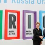 Dilma Rousseff e Vladimir Putin durante VII Cúpula do BRICS, na Rússia. Foto: Roberto Stuckert Filho/ PR