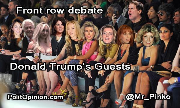 Donald Trump's DEBATE GUESTS - @Mr_Pinko - PolitOpinion