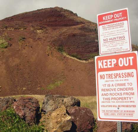 cinder cone, south side of Maui