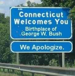 Connecticut apologizes for George Bush