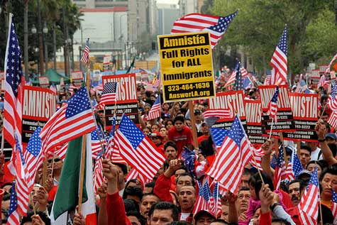 Immigrants Rights March, L.A., April 7