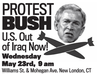 Protest Bush in New London