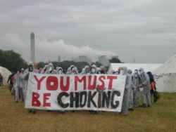 climate camp sign