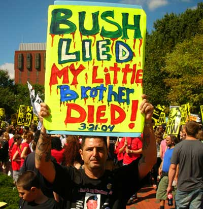 My little brother died. March on DC. Sept 15 2007