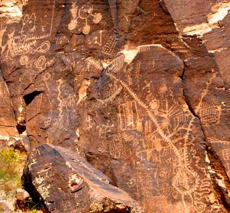 Petroglyphs. Parowan Gap, Utah