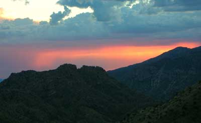 sunset from Mt. Lemmon AZ